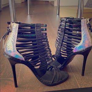 LAMB brook black leather stilettos heels sz 36 6